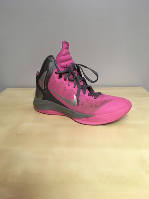 Nike Zoom Hyperenforcer Womens Size 8 Breast Cancer Susan G Koman - RARE EDITION - Hot Pink/grey - Basketball Shoes - Hardly Worn for Sale in Homer Glen, IL