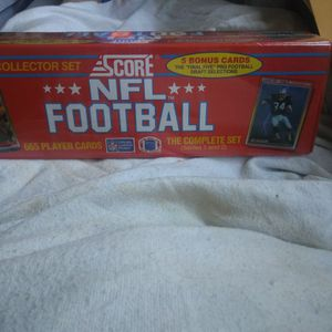 1990 Score Football 665 Cards Set, Factory Sealed for Sale in Santa Clara, CA