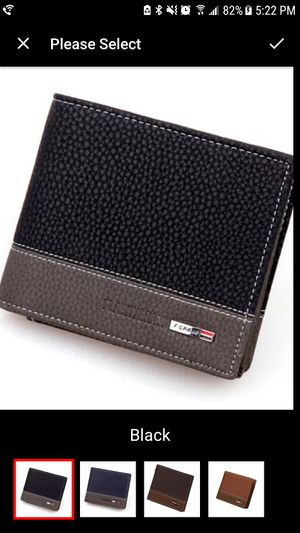 Leather men wallet Black for Sale in Staten Island, NY