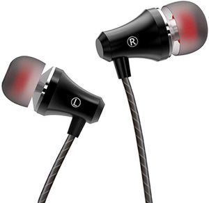 Earphones Stereo in Ear Earbuds Headphones with Microphone and Volume Control 3.5 mm Plug Compatible Multiple Audio Device Black for Sale in Hacienda Heights, CA