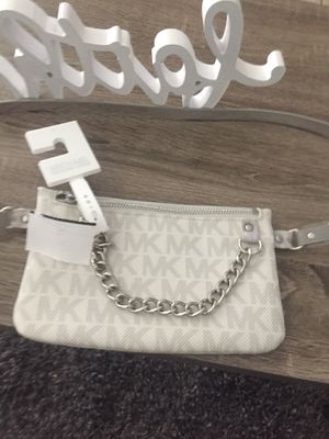 Michael Kors silver and gray belt bag new with tags authentic for Sale in Miami, FL