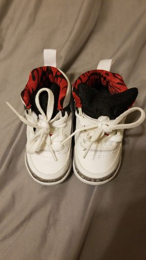 Baby Jordans black white and grey for Sale in Dallas, TX