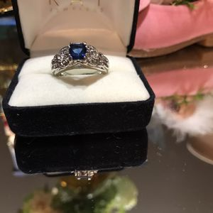 Beautiful ! Silver Blue Sapphire Stone Ring ! for Sale in Gainesville, VA