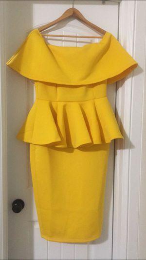 Yellow Peplum Dress for Sale in Humble, TX