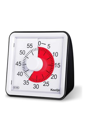 (W29) KeeQii Visual Analog Timer,Classroom Countdown Clock,Silent Timer for Kids and Adults,Time Management Tool for Sale in La Puente, CA