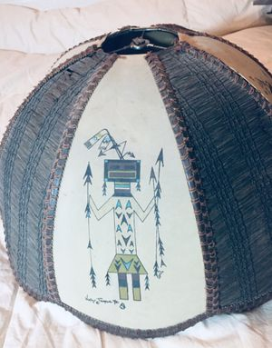 Vintage 1950's Navajo Female Yei Lamp Shade for Sale in Scottsdale, AZ