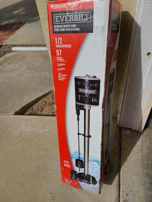 Everbilt 1/2HP Pedestal Sump Pump for Sale in Murrieta, CA