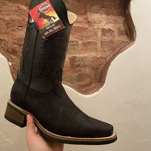 Black Suede Cowboy Boots/Work Boots Brand New Size 9.5 for Sale in Chicago, IL