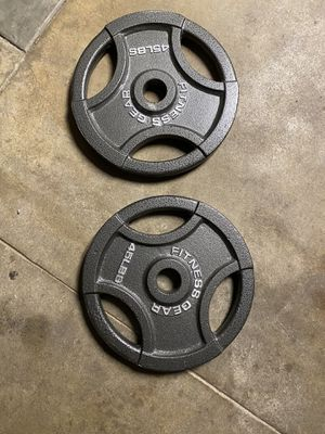 45 Lbs Olympic Weight Plate Set for Sale in Pomona, CA
