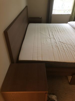 Super king size bed with 2sids table and 2 sids drawer for Sale in Irvine, CA
