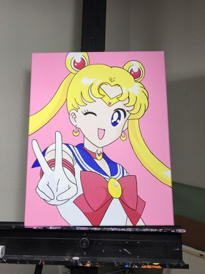 Sailor Moon Custom Acrylic Painting Manga Anime Comic Decor for Sale in Santa Monica, CA