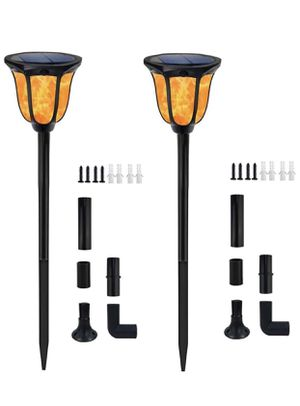 Solar Lights Outdoor Flickering Flames Solar Torches Landscape Solar Torch Light Lighting Dusk to Dawn Auto On/Off Outdoor Solar Pathway Lights for P for Sale in Eastvale, CA