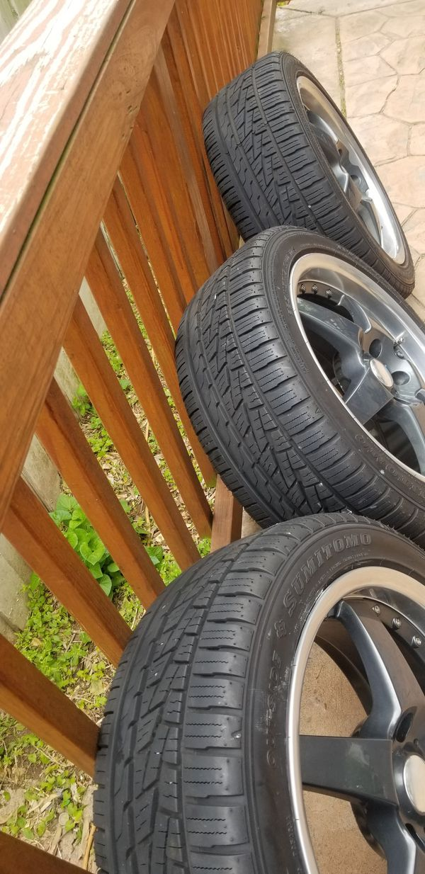 Rim's and tires 225/45/R17. Tires are brand only have 400 miles on them