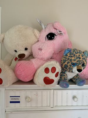 Big Teddy Bear, Unicorn & Leopard for Sale in Adelphi, MD