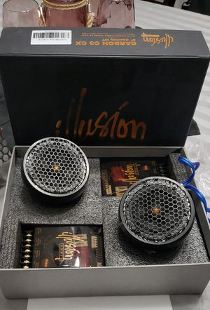 "Illusion Audio carbon c3cx SQ car audio 3"" component speakers for Sale in Randolph, MA"
