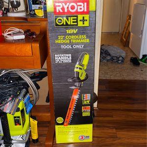 Ryobi Cordless Hedge Trimmer for Sale in Hemet, CA