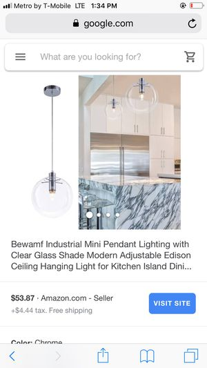 Hanging light for kitchen island for Sale in Bakersfield, CA