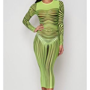 Mesh neon green dress green bodysuit snake skin dress instagram @IAmRAREfash launch date APRIL 21ST come shop with me for Sale in Washington, DC