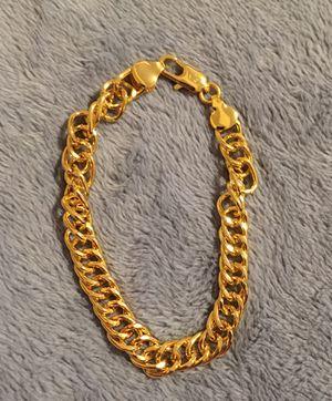 """New unisex gold filled bracelet 8"""" for Sale in Hoffman Estates, IL"""