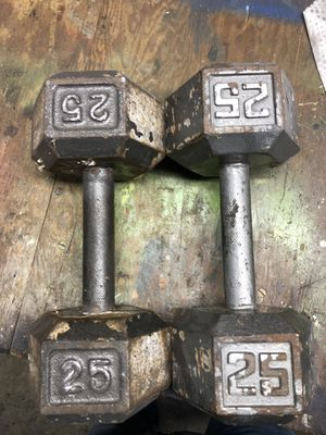 25 pound dumbbells $25.00 for both firm on price for Sale in Tacoma, WA