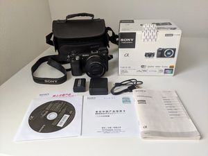 Sony Alpha Nex-6 Mirrorless Digital Camera with 16-50mm Lens for Sale in West Menlo Park, CA