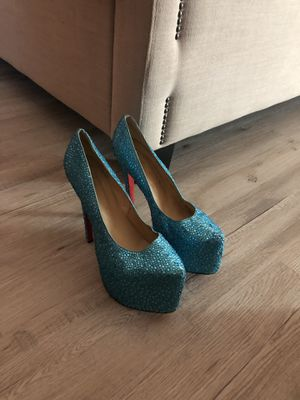 Teal Sparkly Heels for Sale in Chandler, AZ