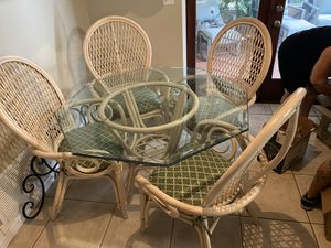 Breakfast table and chairs. Three barstools for Sale in Tampa, FL