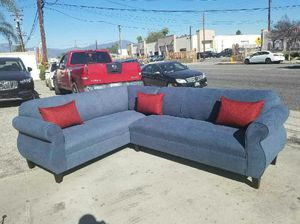 NEW 7X9FT ANNAPOLIS STEEL BLUE FABRIC SECTIONAL COUCHES for Sale in San Juan Capistrano, CA