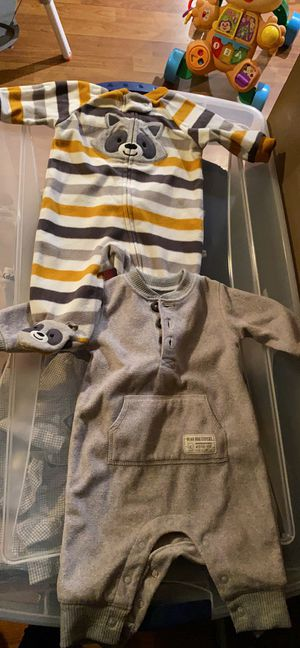 Baby boy size 3 months fleece pajamas for Sale in Germantown, MD