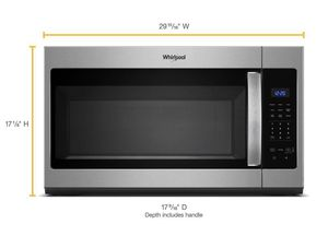 Whirlpool 1.7 cu. ft. Over the Range Microwave in Stainless Steel with Electronic Touch Controls for Sale in Los Angeles, CA