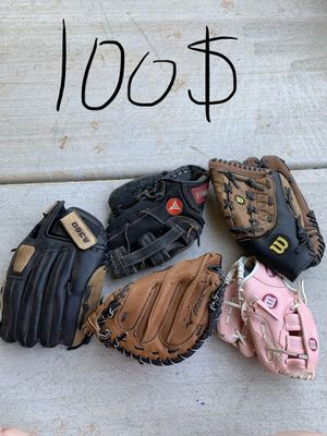 Leather gloves for baseball/softball for Sale in Edmond, OK
