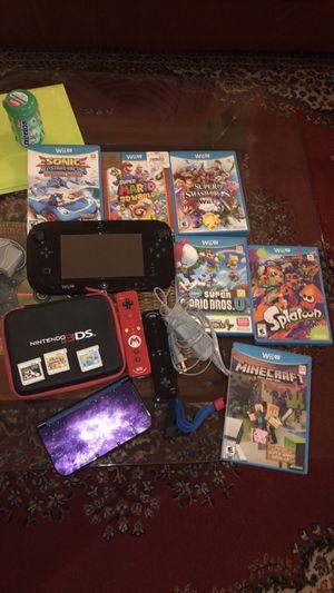 Wii U + Nintendo 3ds plus games for Sale in Alexandria, VA