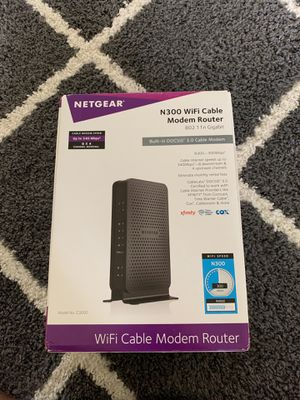 Netgear N300 WiFi Cable Modem Router for Sale in Austin, TX