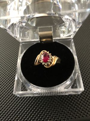 Oval Lab Ruby and Diamonds for Sale in Belmont, CA