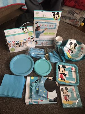 Mickey Mouse Party Supplies for Sale in Woodbridge, VA