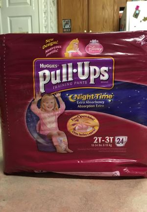 Brand new Huggies pull-ups. Size 2T-3T With 24 pull-ups. for Sale in Lampasas, TX