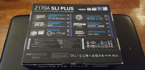 Z170A SLI plus motherboard + Intel Celeron Combo. Lightly used