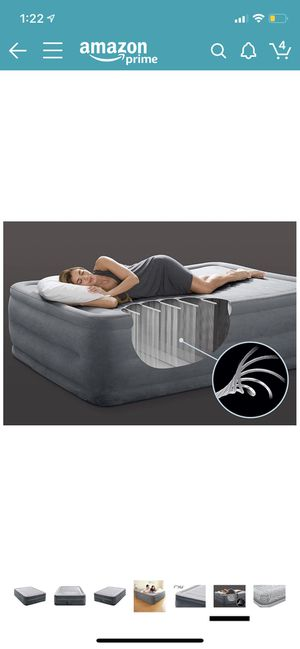 """Intex Comfort Plush Elevated Dura-Beam Airbed with Internal Electric Pump, Bed Height 22"""", Queen for Sale in Bellevue, TN"""