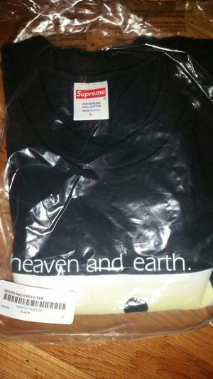 Men's Large Supreme Heaven and Earth Tee Black for Sale in Yarrow Point, WA