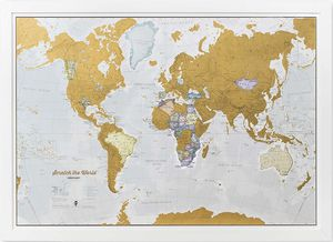 New scratch the world map for Sale in Huntington Beach, CA