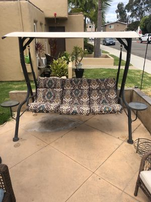 Steel 3 Person Outdoor Porch Swing with Canopy for Sale in Huntington Beach, CA