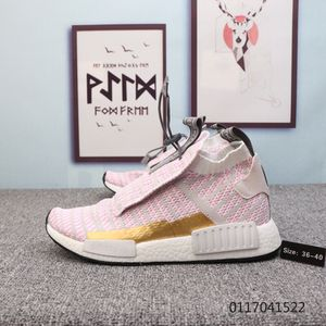 Adidas Originals NMD Cherry pink light grey gold white Womens Winter Running Shoes for Sale in Salt Lake City, UT
