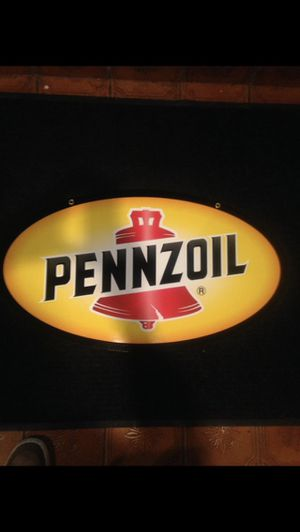Double sided Pennzoil metal sign for Sale in Pico Rivera, CA