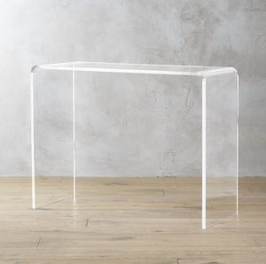 Custom Lucite/Acrylic Waterfall Console Table for Sale in New York, NY
