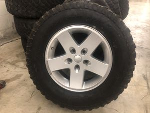 2007-2018 Jeep Wrangler wheels and tires for Sale in Nashville, TN