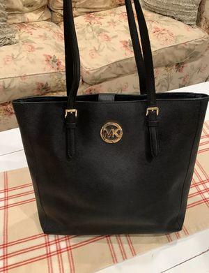 Michael Kors Black Signature Tote Bag Handbag Purse for Sale in Rockville, MD