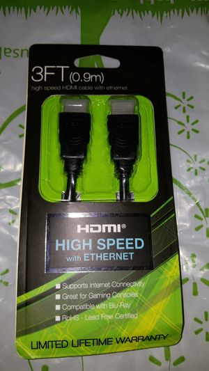 Hdmi high speed with ethernet cord for Sale in Phoenix, AZ