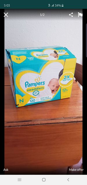 Newborn diapers $20 for Sale in Los Angeles, CA