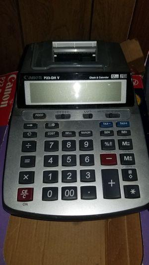 Canon p23-DH 2 color mini desktop printing calculator for Sale in US