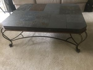 Large slate coffee table for indoor or outdoor for Sale in Atlanta, GA